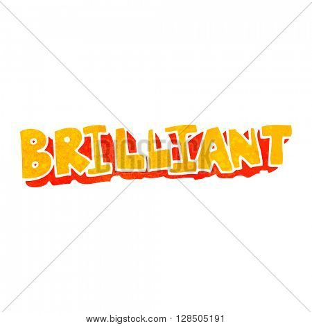 brilliant freehand retro cartoon word