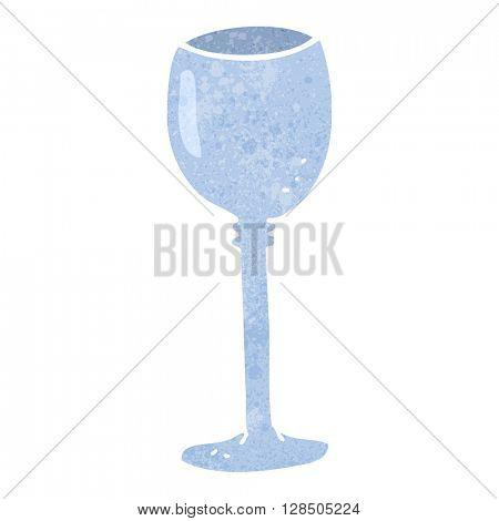 freehand retro cartoon wine glass