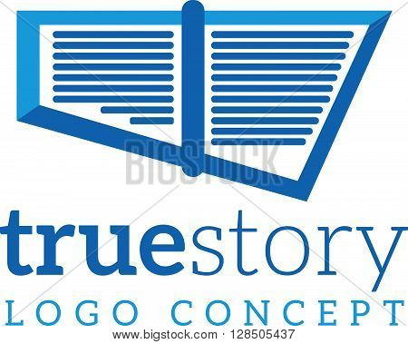 Abstract vector logo company template true story