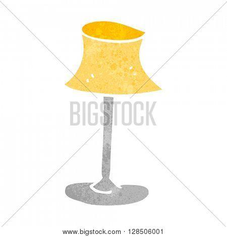 freehand retro cartoon lamp