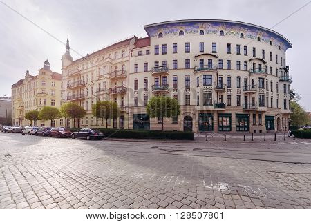 Buildings architecture in the Tumski island Wroclaw Poland Europe.