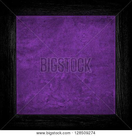 Dark Purple Grunge Canvas With Wood Frame