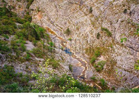 View of Rosandra river in the Val Rosandra Karst region