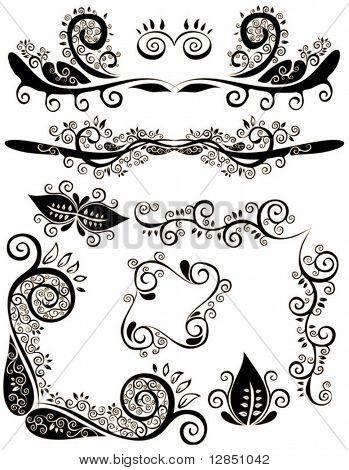 Abstrakte retro floral Muster für Design und Hintergrund.