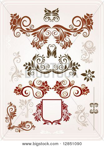 Abstract pattern for design. Floral ornament for background. Part 4.