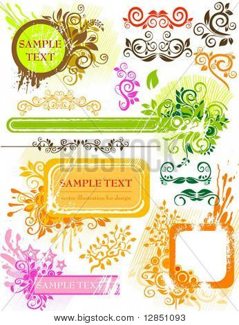 Abstract elements for design. Floral background for background.