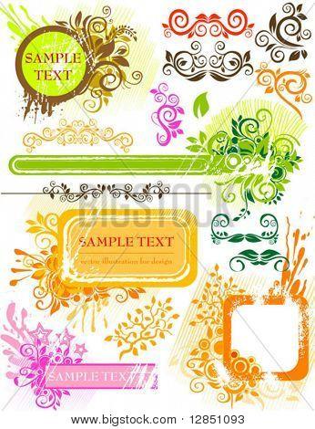 Abstrakte Elemente für Design. Blumen Hintergrund für Hintergrund.