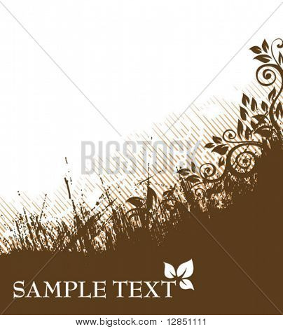 Abstract pattern for design. Floral ornament for background.
