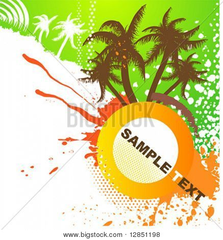 Abstract vector illustration for design. DJ retro ornament for background.