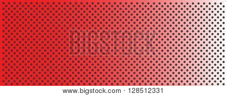 High resolution concept conceptual red metal stainless steel aluminum perforated pattern texture mesh banner background