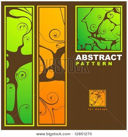 abstrakte Muster für Design. Blumen retro Elemente für Hintergrund.