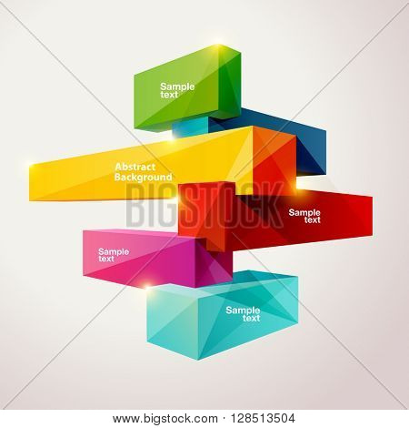 Composition of colorful cubes.
