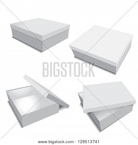grey packing box for business vector illustration