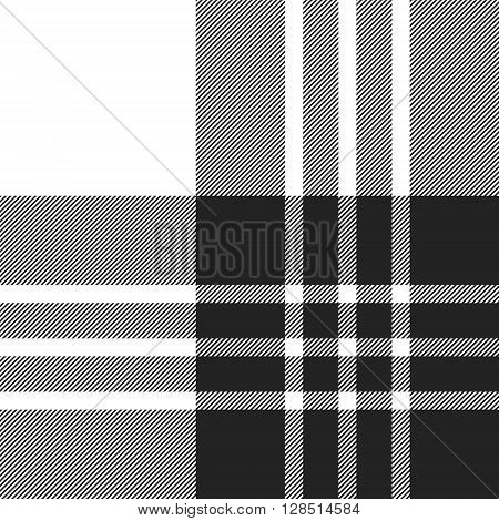 Macgregor tartan black and white seamless pattern.Vector illustration. EPS 10. No transparency. No gradients.