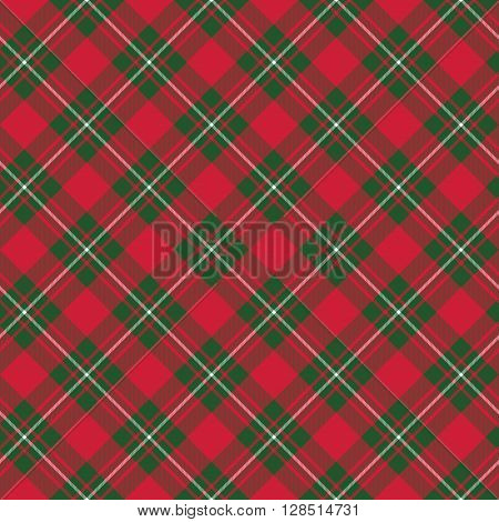 Macgregor tartan kilt fabric textile diagonal seamless background.Vector illustration. EPS 10. No transparency. No gradients.