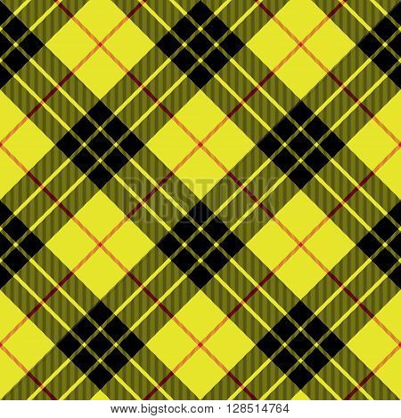 Macleod tartan kilt fabric texture background diagonal seamless pattern.Vector illustration. EPS 10. No transparency. No gradients.