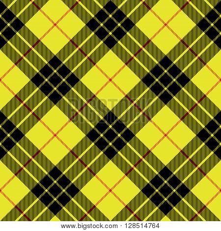 Macleod tartan kilt fabric texture background diagonal seamless pattern.Vector illustration. EPS 10. No transparency. No gradients.