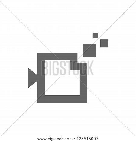 Digital camera icon on white background. Vector illustration.