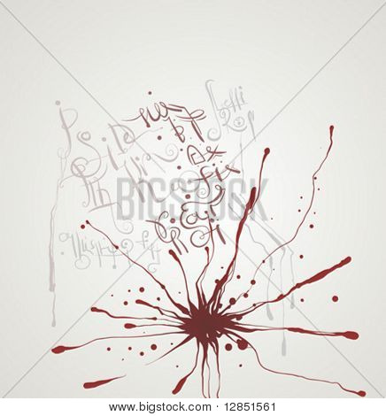 Abstract illustration with blood for background.