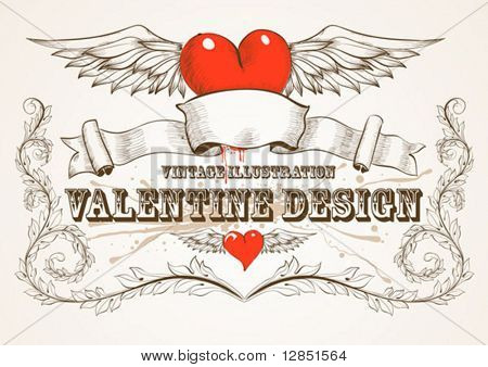 Abstract valentine illustration for design and background.