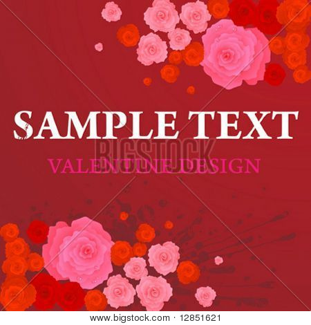 Abstract valentine day vector background for design.