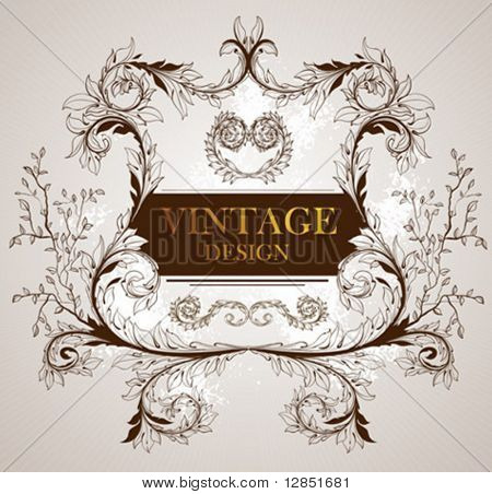 Abstract vintage vector for design.