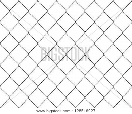Old steel mesh metal fence seamless structure. Vector illustration. EPS 10. No transparency. No gradients. Raw materials are easy to edit.