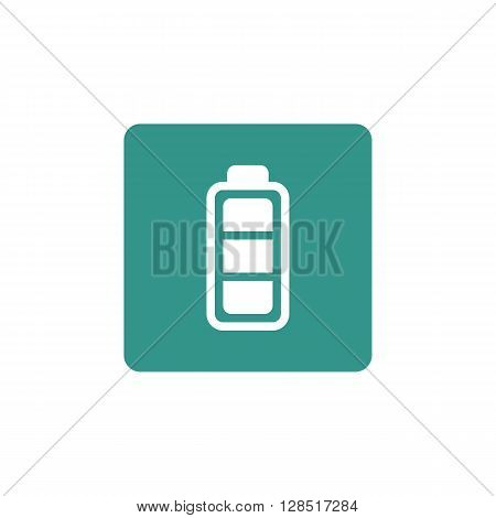 Battery Icon In Vector Format. Premium Quality Battery Symbol. Web Graphic Battery Sign On Green Bac