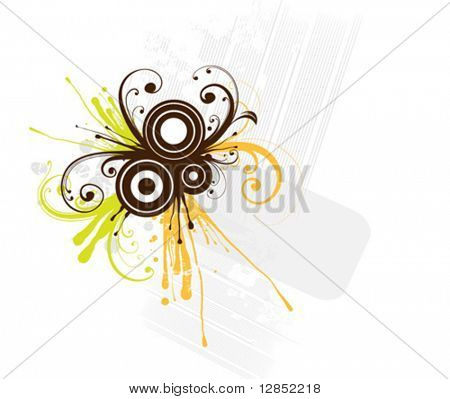 Abstract vector illustration for design.