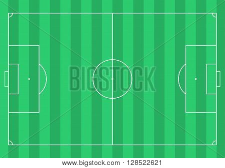 Football soccer field. Vector Illustration for graphic use