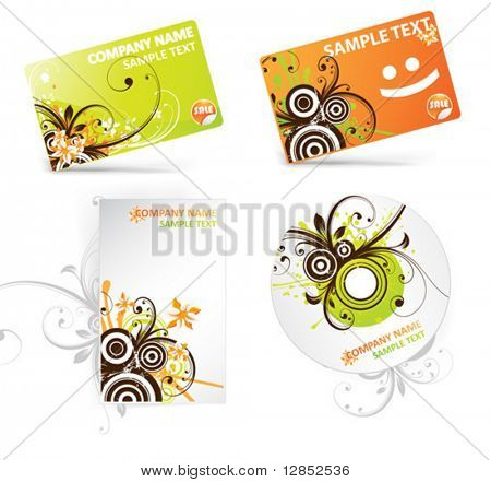 Abstract vector elements for design.