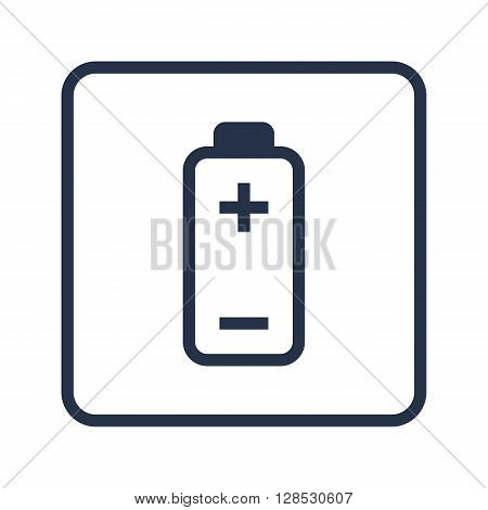 Battery Icon In Vector Format. Premium Quality Battery Symbol. Web Graphic Battery Sign On Blue Roun