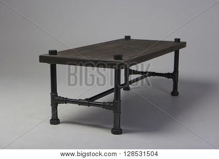 modern loft wooden table studio shot