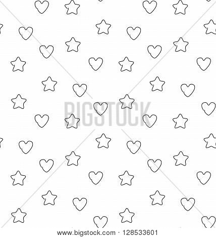 Favorite seamless pattern. Vector illustration. EPS 10.
