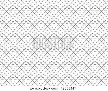 fish scales seamless horizontal background .Vector illustration. EPS 10.