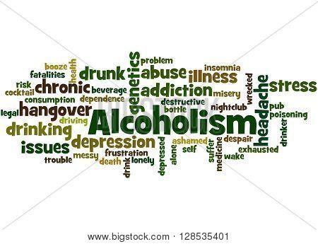 Alcoholism, Word Cloud Concept