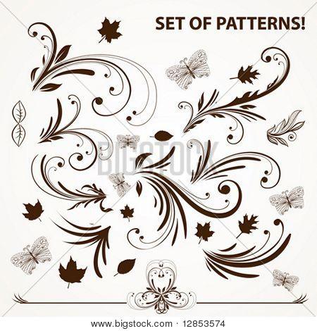 Set of vector pattern for design.
