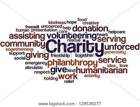 Charity, Word Cloud Concept