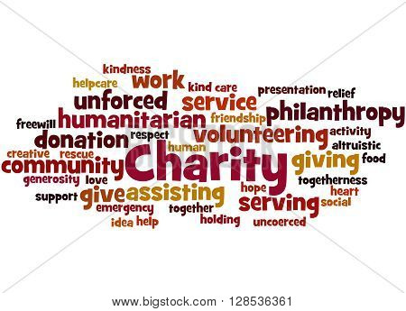 Charity, Word Cloud Concept 2