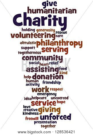 Charity, Word Cloud Concept 4