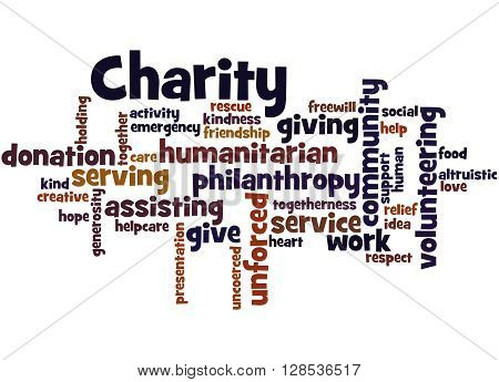 Charity, Word Cloud Concept 8