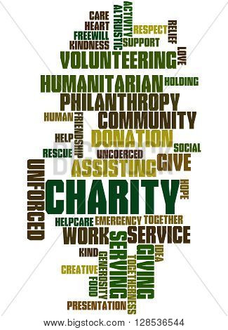 Charity, Word Cloud Concept 9