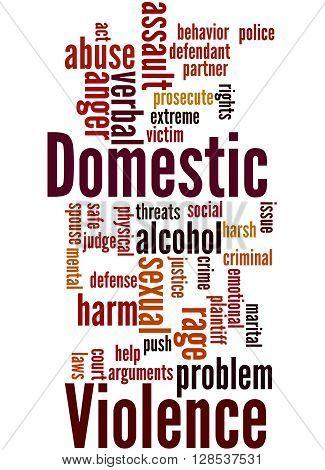 Domestic Violence, Word Cloud Concept 2