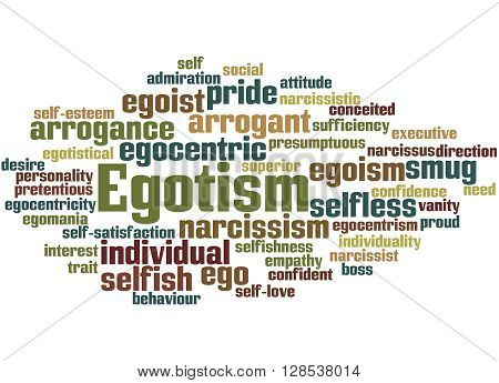 Egotism, Word Cloud Concept 9