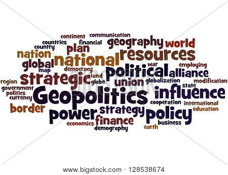 Geopolitics, Word Cloud Concept 5