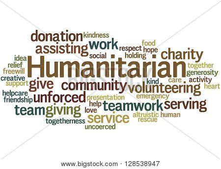 Humanitarian, Word Cloud Concept 3