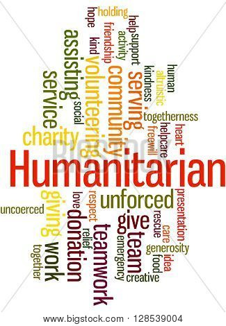 Humanitarian, Word Cloud Concept 7