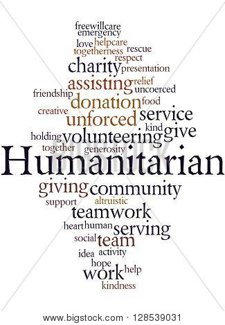 Humanitarian, Word Cloud Concept 9