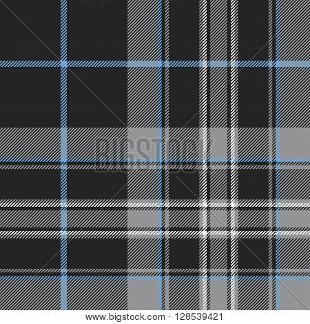 Pride of scotland platinum tartan fabric texture seamless pattern .Vector illustration. EPS 10. No transparency. No gradients.