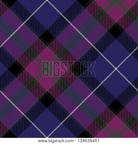 Pride of scotland tartan fabric diagonal texture seamless pattern.Vector illustration. EPS 10. No transparency. No gradients.